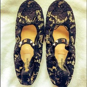 Shoes - Valentino Rockstud Black Authenticate Flat 37